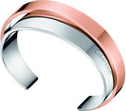 Otevřený ocelový bicolor náramek Unite KJ5ZPF2001