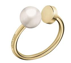 Otevřený pozlacený prsten Bubbly KJ9RJR1401