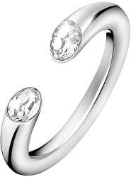 Otevřený prsten s krystaly Brilliant KJ8YMR0405