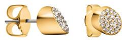 Pozlacené náušnice s krystaly Brilliant KJ8YJE140100