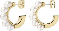 Cercei placați cu aurcu perle Swarovski Circling KJAKJE140100