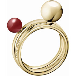 Pozlacený prsten Bubbly KJ9RJR14040