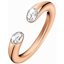 Pozlacený prsten s krystaly Brilliant KJ8YPR14020