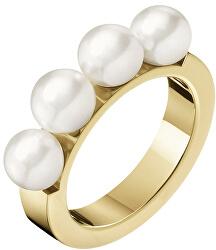 Pozlacený prsten s perličkami Circling KJAKJR1401