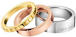 Tricolor prsten 3 v 1 Wonder KJ5MDR3001