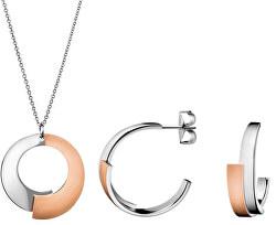 Set de bijuterii din oțel Intense(colier,cercei)