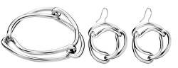 Zvýhodněná sada ocelových šperků Unified (náramek, náušnice)