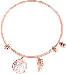 Bronzový ocelový náramek s andělíčkem 860-180-012071-0000