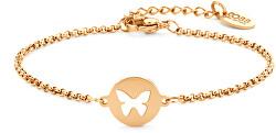 Ocelový náramek s motýlkem 860-180-090411-0000