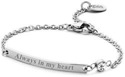 Oceľový náramok Always in my heart 860-180-090135-0000