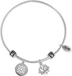Ocelový náramek s lotosovým květem 860-180-025003-0000