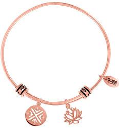 Ocelový náramek s lotosovým květem 860-180-025010-0000