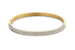 Pevný pozlacený náramek s krystaly Enjoy the little things 860-180-090462-0000