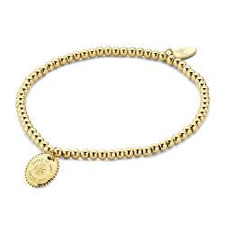 Pozlacený korálkový náramek s přívěskem 860-180-090665-0000