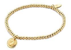 Pozlacený náramek s přívěskem královny Elizabeth II 860-180-090666-0000