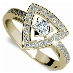 Luxusný zlatý prsteň s diamantmi DF1970z