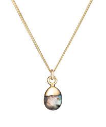 Pôvabný pozlátený náhrdelník s Labradorit