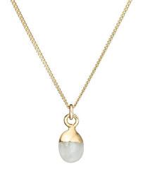 Pôvabný pozlátený náhrdelník s mesačným kameňom