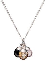 Strieborný náhrdelník s polodrahokamami - láska, úspech a sila (retiazka, prívesok)