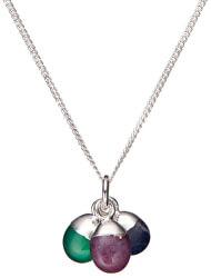 Strieborný náhrdelník s polodrahokamami - ochrana, stres a inšpirácie (retiazka, prívesok)