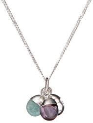 Stříbrný náhrdelník s polodrahokamy - uzdravení, uklidnění a důvěra (řetízek, přívěsek)