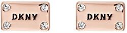 Růžově pozlacené náušnice Plackard New York 5520021