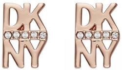Růžově pozlacené náušnice ve tvaru loga New York 5520005