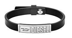 Čierny kožený náramok DX1226040
