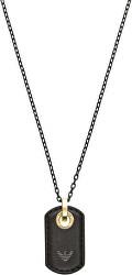 Dizajnový pánsky náhrdelník s koženým príveskom EGS2706710