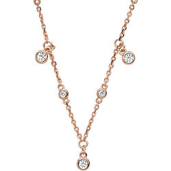 Luxusní bronzový náhrdelník s krystaly EG3500221