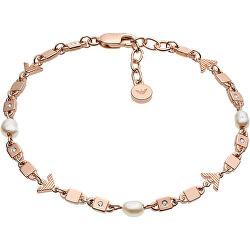 Luxusný dámsky náramok s kryštálmi a perlami EG3450221