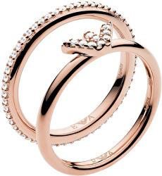 Moderné dvojitý oceľový prsteň EG3462221