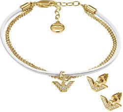Souprava šperků ze stříbra EG3186710 - SLEVA (náramek, náušnice)
