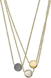 Stylový trojitý náhrdelník EGS2351710