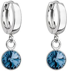 Cercei frumoși din argint cu cristal Swarovski albastru 31300.3