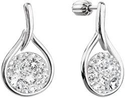 Nadčasové stříbrné náušnice s krystaly Swarovski 31305.1