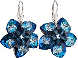 Náušnice kvety 31130.5 bermuda blue