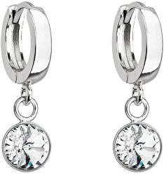 Cercei delicați din argint cu cristale Swarovski 31300.1