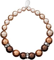 Perlový náramek 33016.3 brown