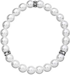 Perlový náramok 33017.1 biela