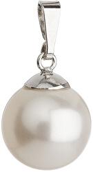 Prívesok s perličkou 34151.1 biela