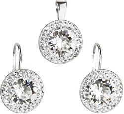 Sada á la Kate Middleton 39107.1 krystal (náušnice, prívesok)