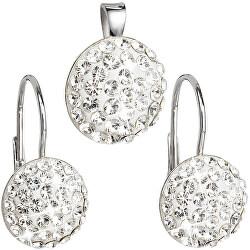 Sada šperků s krystaly Swarovski 39086.1 (náušnice, přívěsek)