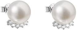 Strieborné náušnice kôstky s pravými perlami Pavona 21020.1