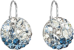 Stříbrné náušnice s krystaly 31176.3 Ice Blue