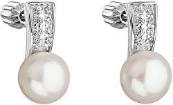 Strieborné náušnice s perlou Pavona 21001.1 biela