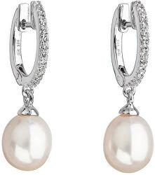 Strieborné perlové náušnice Pavona 21002.1