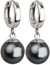 Strieborné náušnice s perlou 31151.3 grey