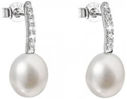 Stříbrné náušnice s pravými perlami Pavona 21034.1