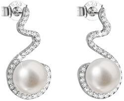 Stříbrné náušnice s pravými perlami Pavona 21037.1